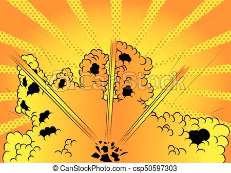 450x338 Comic Book Style Background. Vector Illustrated Cartoon, Comic