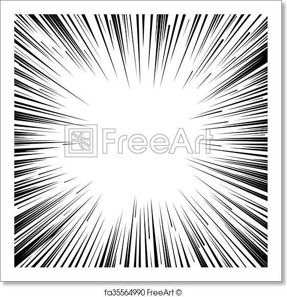 561x581 Free Art Print Of Manga Comic Book Flash Explosion Radial Lines