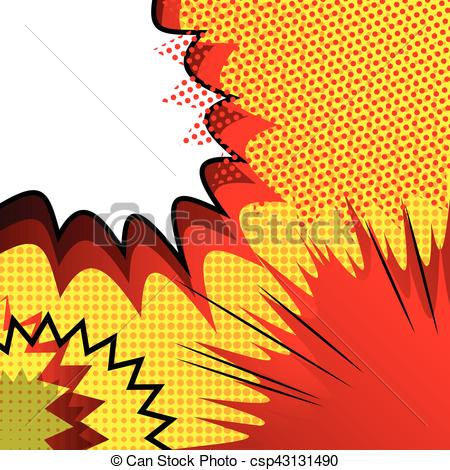 450x470 Vector Illustrated Cartoon, Comic Book Style Background. Eps