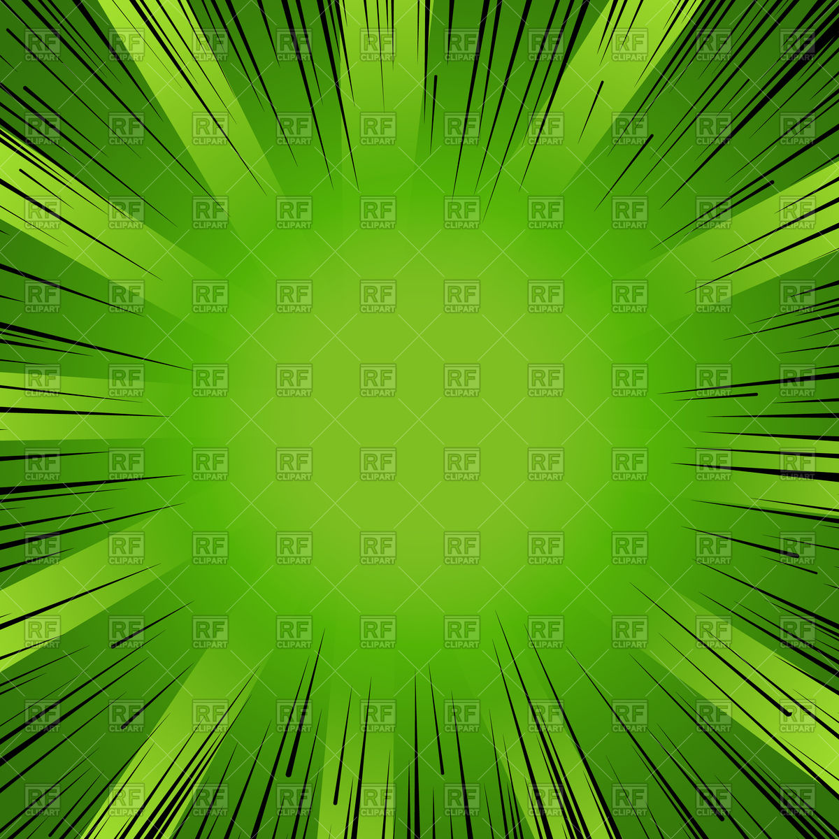 1200x1200 Abstract Comic Book Flash Explosion Green Background Vector Image