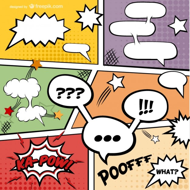 626x626 Comic Book Speech Bubbles Vector Free Download
