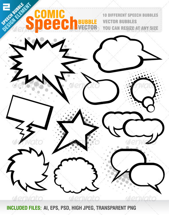 590x753 Comic Speech Bubbles Vector By Jackrust Graphicriver