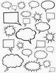 186x241 Bubble Template Of Empty Graphic Black And White Comics Speech