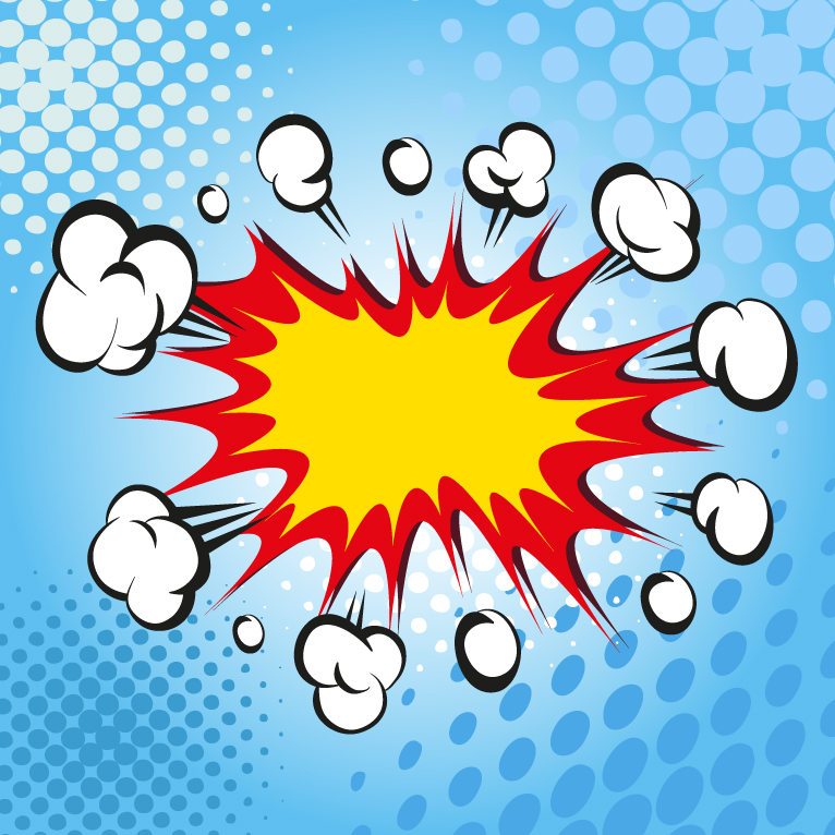 766x766 Comic Book Explosion Sharp Free Vector Graphic Download