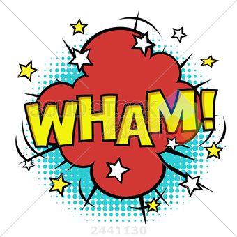 340x340 Stock Photo Of Wham Phrase In Speech Bubble Comic Sound Vector