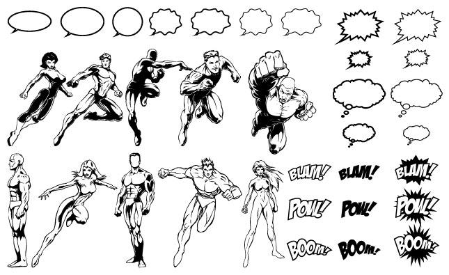 645x395 Comic Book Hero Layer Effect Free
