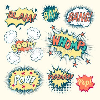 380x380 Comic Book Sound Effects Royalty Free Stock Vector Art