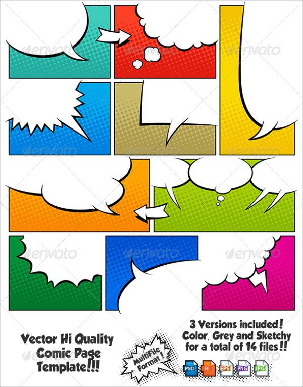 600x765 Comic Book Templates
