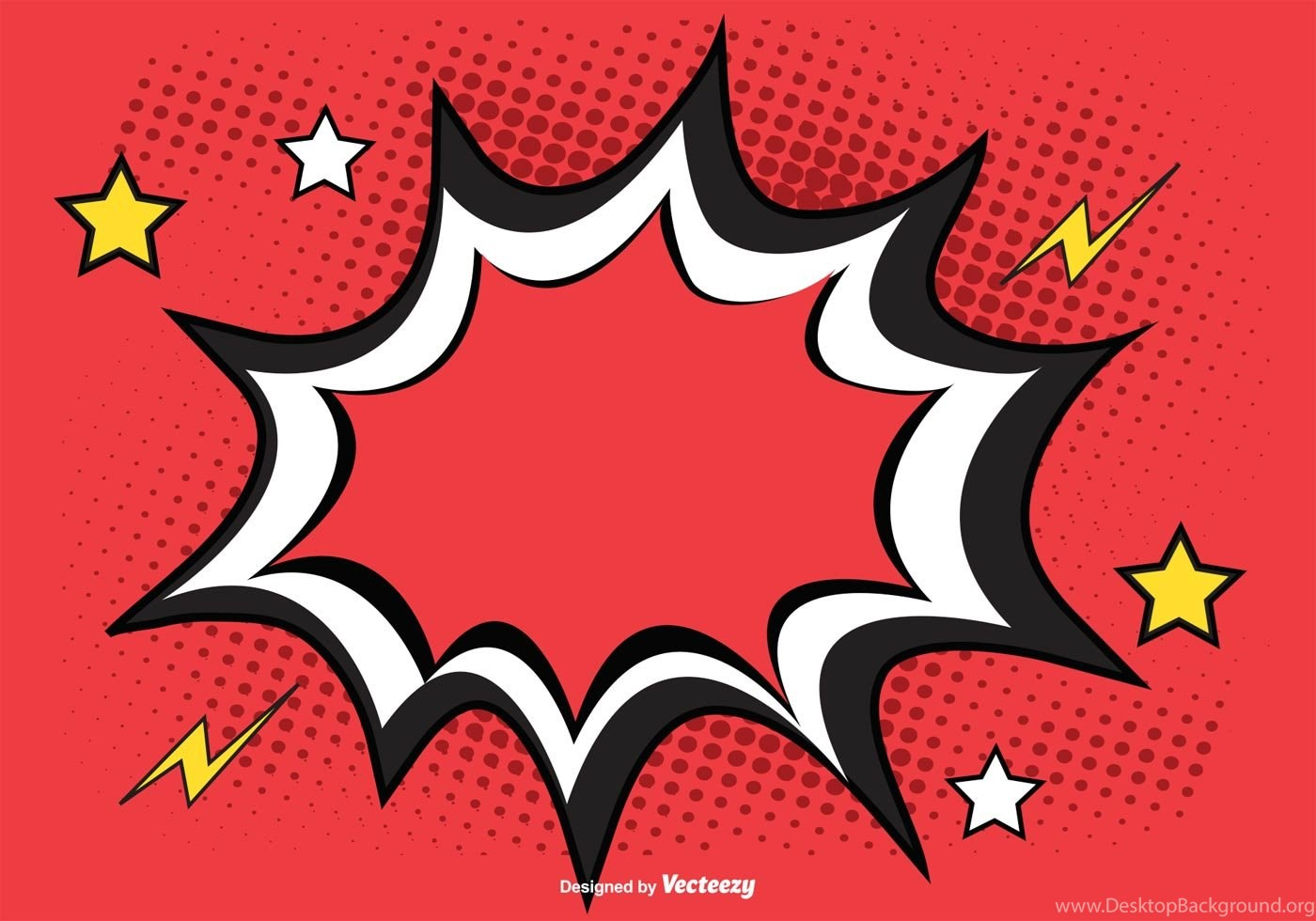 1400x980 Comic Burst Free Vector Art (1797 Free Downloads) Desktop Background