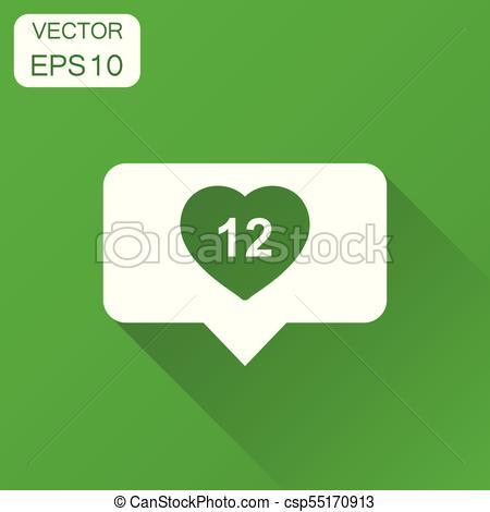 450x470 Like, Follower, Comment Bubble Icon. Business Concept... Vector