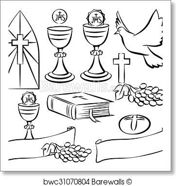 362x382 Art Print Of Holy Communion