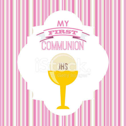 440x440 First Communion Vector Illustration 10 Eps Graphic Stock Vector