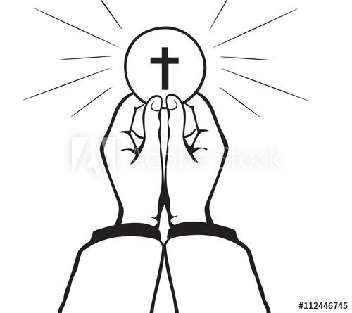 500x445 Holy Communion Vector