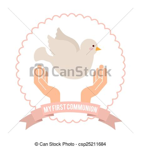 450x470 My First Communion Design, Vector Illustration Eps10 Graphic .