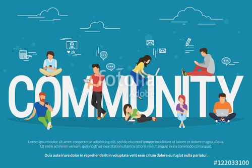 500x334 Community Concept Illustration Of Young People Using Mobile