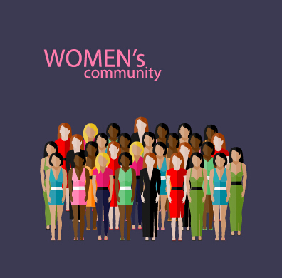 396x390 Community People Vector Template Design 01 Free Download