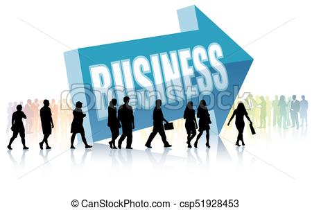 450x303 Direction Business Community. People Are Going To A Direction
