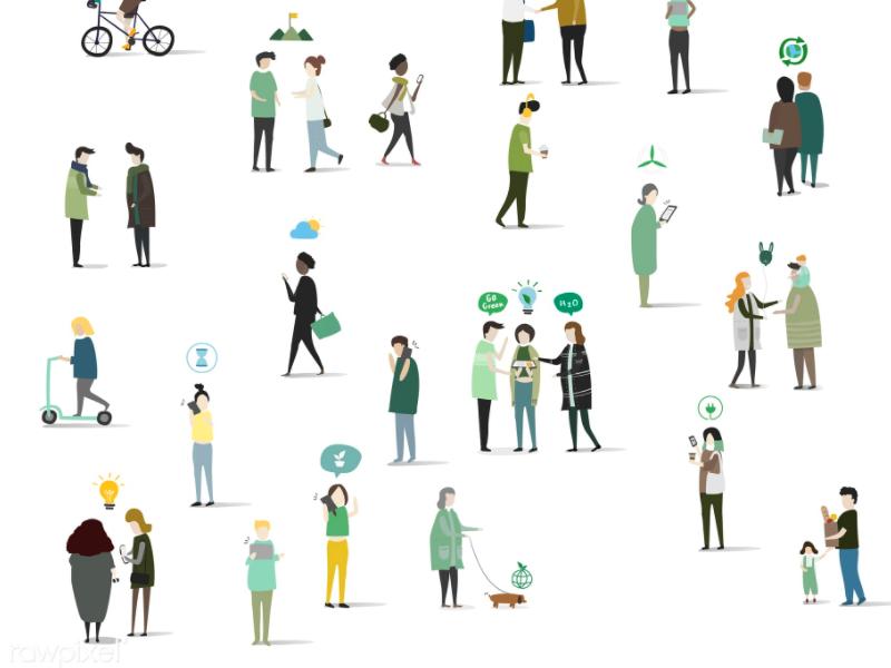 800x600 Free Green Community Vector Illustrations
