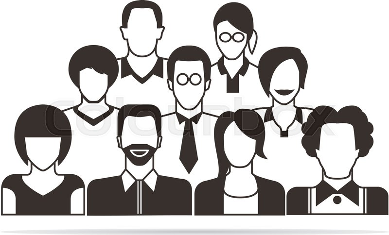 800x484 Group Of People, Community Stock Vector Colourbox
