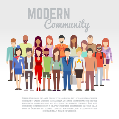 400x400 Large People Crowd Circle Shape Society Vector Illustration 45950