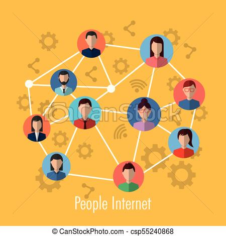 450x470 People Internet Connection Network Media Community Vector