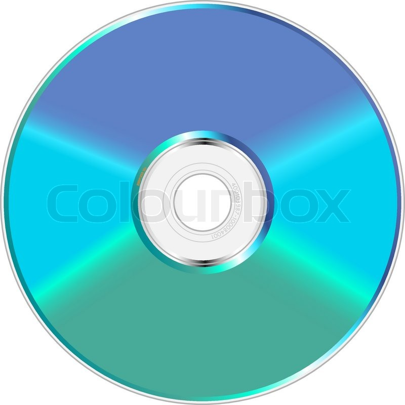 800x800 Blue And Green Shiny Compact Disc Vector Illustration. Stock