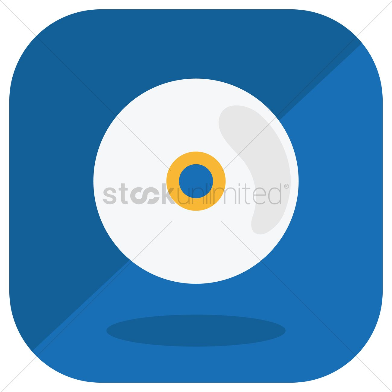 1300x1300 Free Compact Disc Vector Image