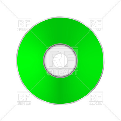 400x400 Green Compact Disc Vector Image Vector Artwork Of Objects