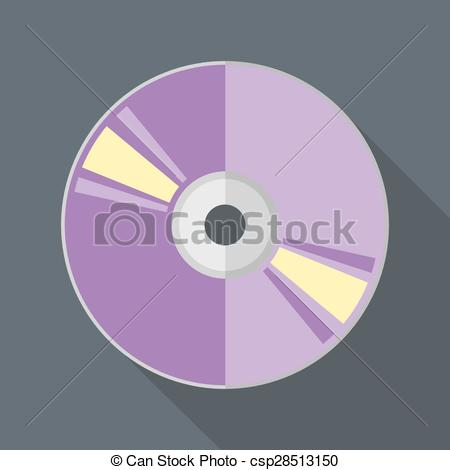 450x470 Vector Flat Style Compact Disc Icon. Eps10 Clipart Vector