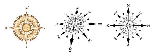 Compass Graphic Vector