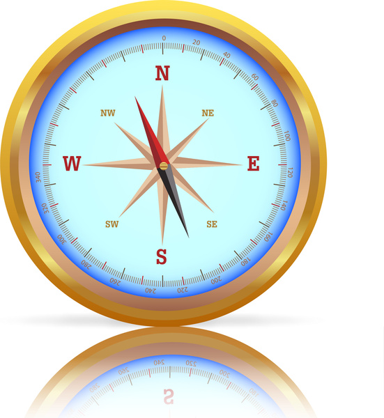 551x600 Compass Vector Illustration Free Vector In Adobe Illustrator Ai