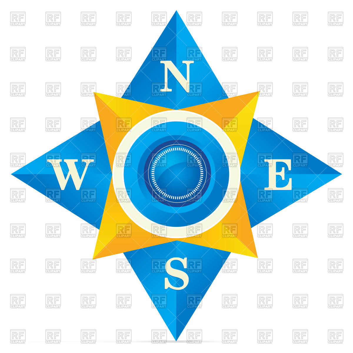 1200x1200 Blue Compass Vector Image Vector Artwork Of Signs, Symbols, Maps