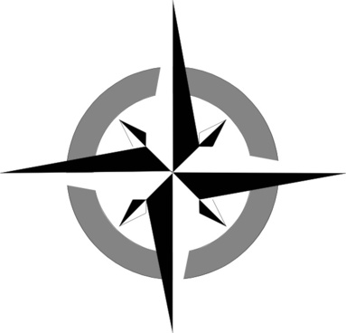 383x368 North Arrow Compass Free Vector Download (3,403 Free Vector) For