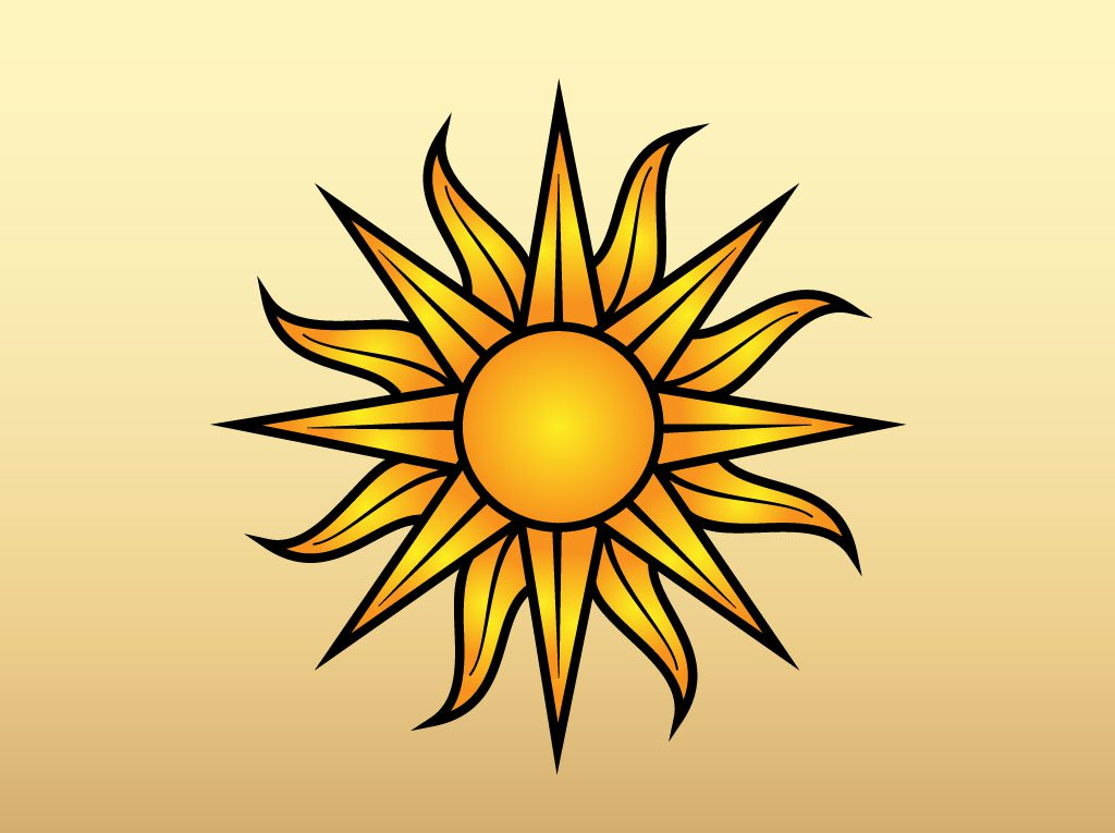 1024x765 Sun Vector Graphic Vector Art Amp Graphics