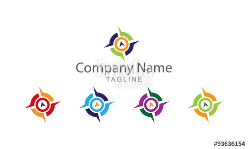 500x300 Compass Logo Vector Stock Image And Royalty Free Vector Files On