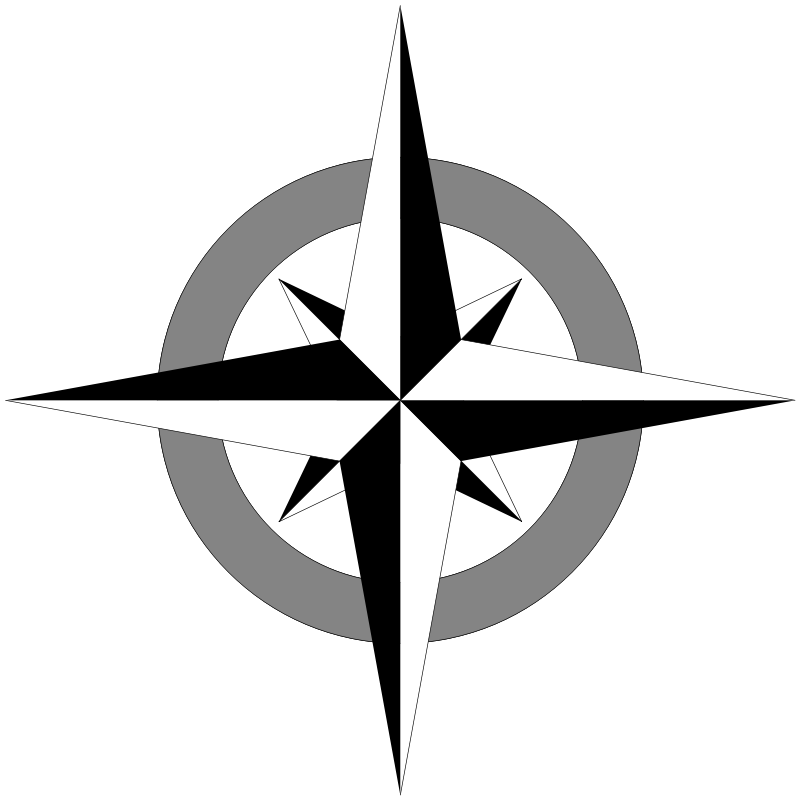 800x800 Compass Rose Free Vector 4vector