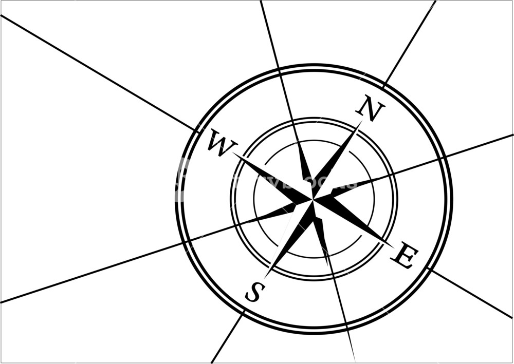 1000x709 Compass Rose Vector Royalty Free Stock Image