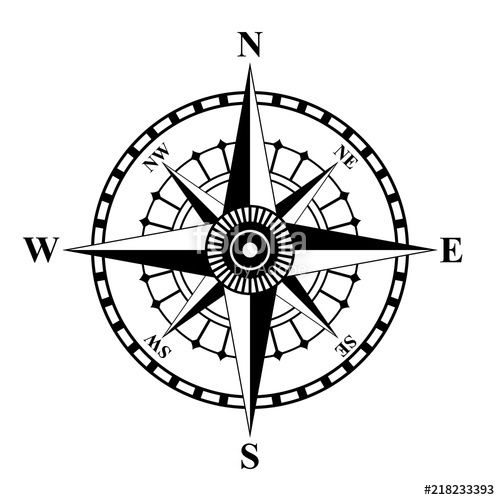 500x500 Compass Rose Vector Stock Image And Royalty Free Vector Files On