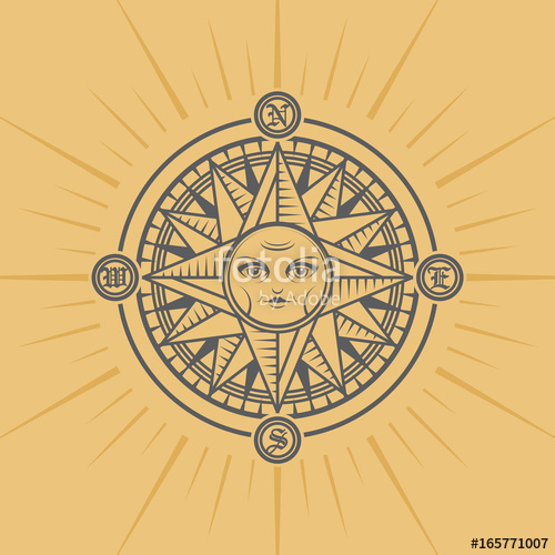 500x500 Compass Rose, Vector Stock Image And Royalty Free Vector Files On