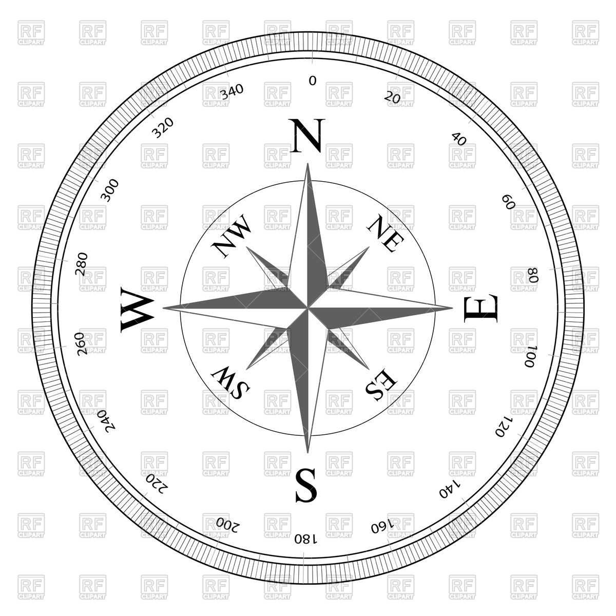 1200x1200 Compass Rose Vector Image Vector Artwork Of Objects Sermax55