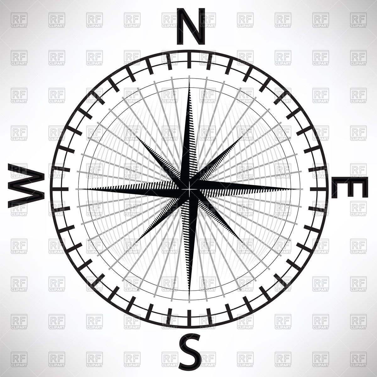 1200x1200 Compass Rose Vector Image Vector Artwork Of Signs, Symbols, Maps