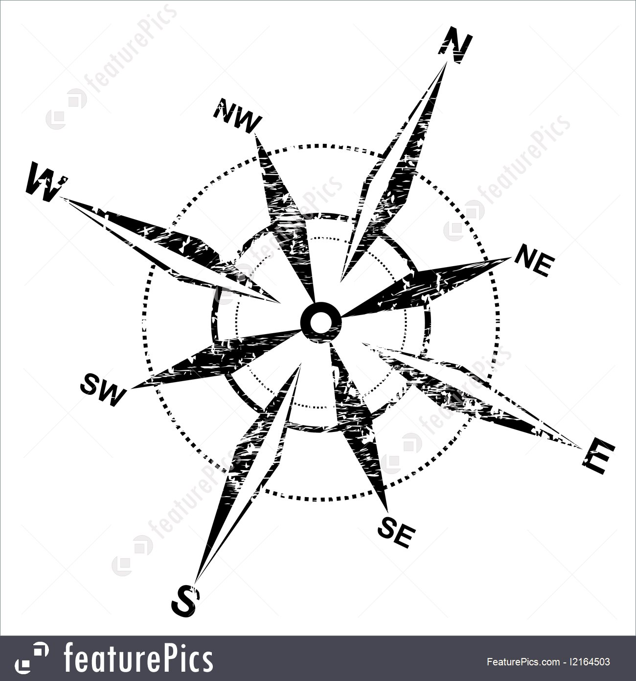 1300x1392 Signs And Info Distressed Compass Rose