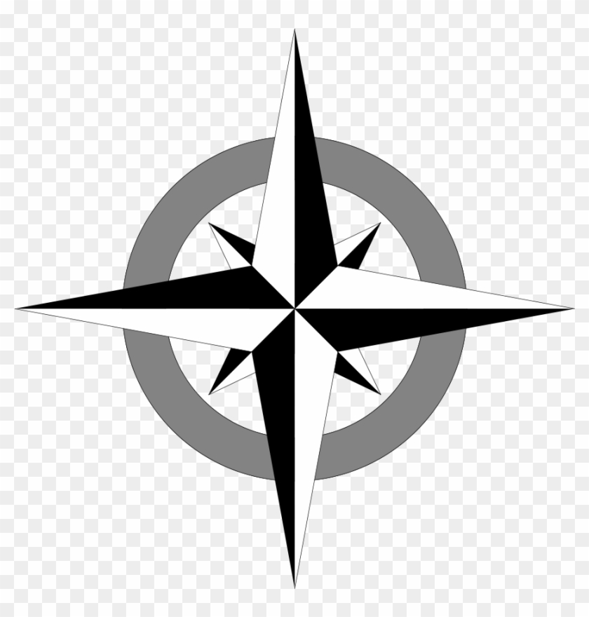 840x880 Simple Compass Rose Clip Art