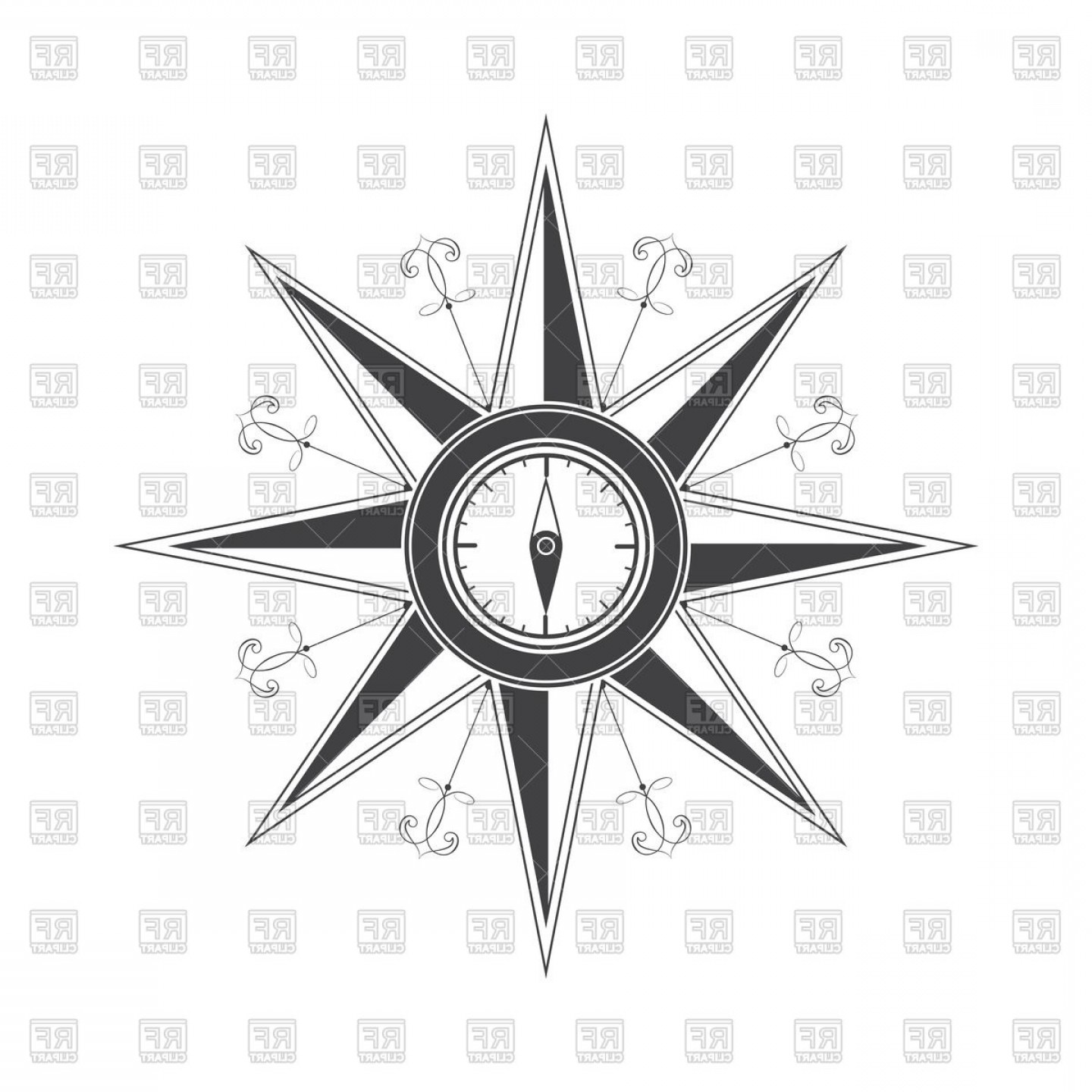 1440x1440 Simple Compass Rose Wind Rose Vector Clipart Arenawp