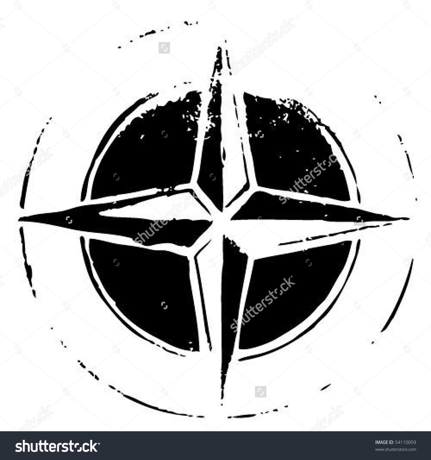 1500x1600 Black Compass Rose