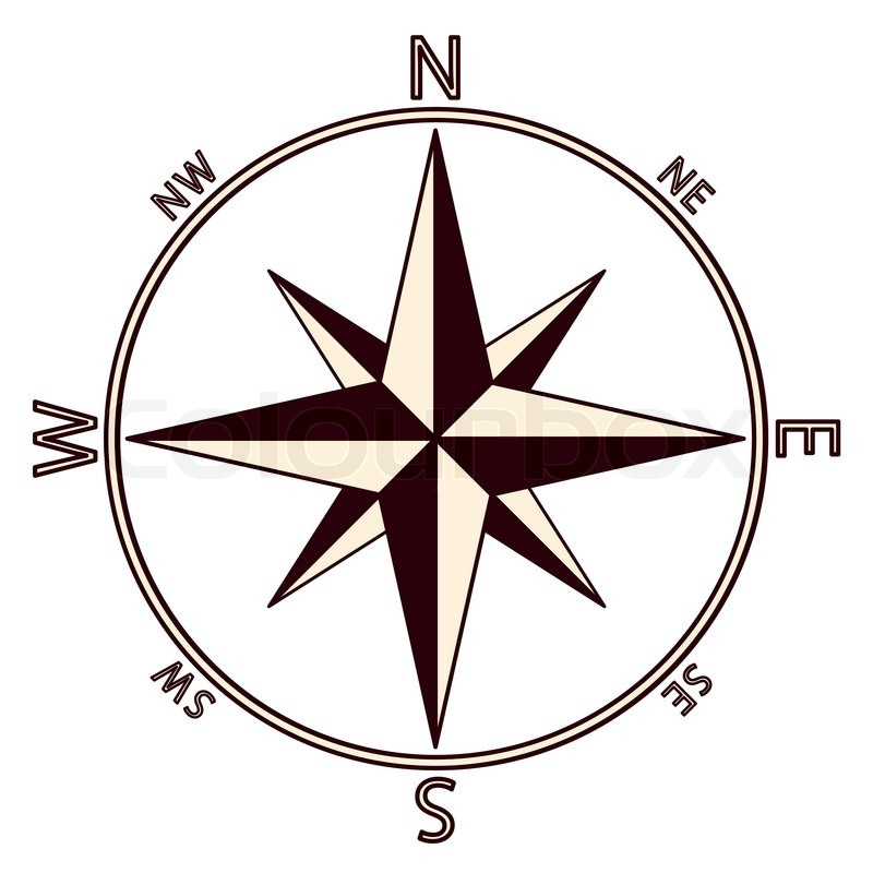 800x800 The Emblem Of The Compass Rose. Vector Illustration. Stock