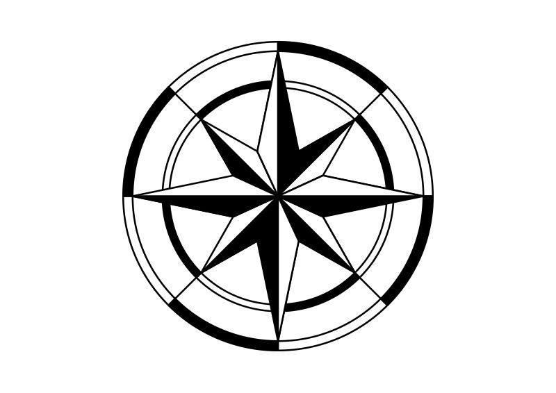 800x566 Compass Rose Vector