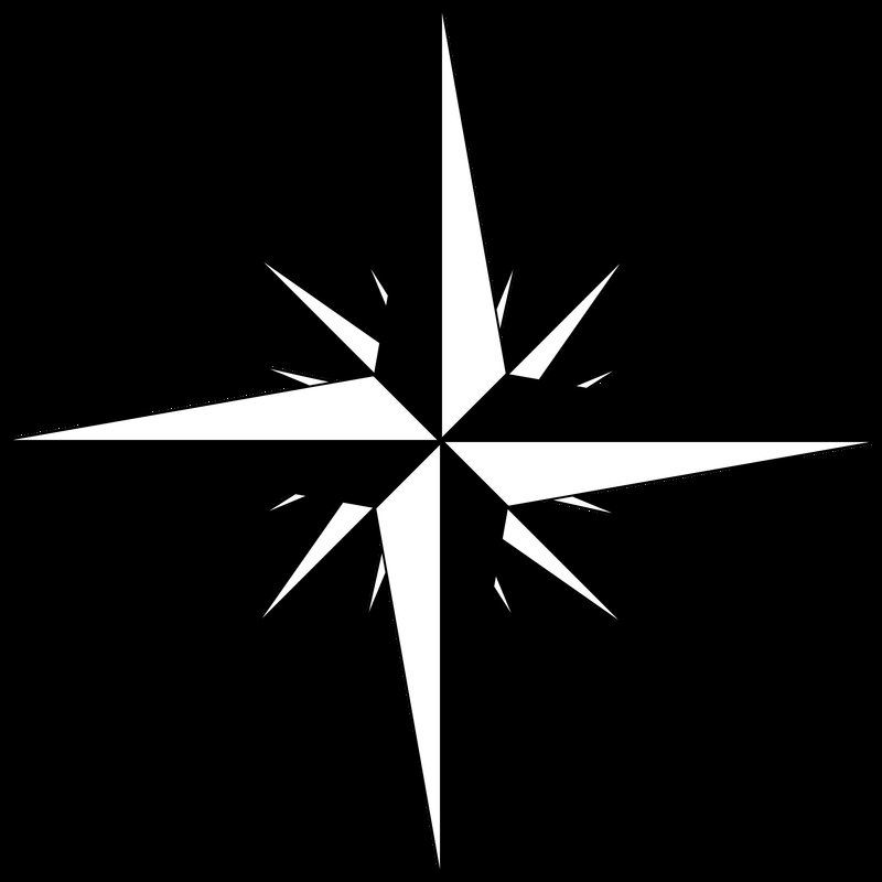 800x800 Compass Rose Vector Clipart Image