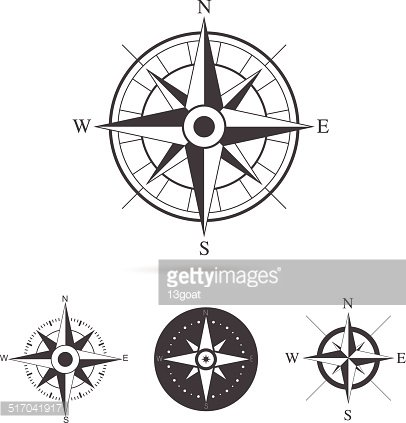 406x423 Compass Rose Vector Collection Premium Clipart