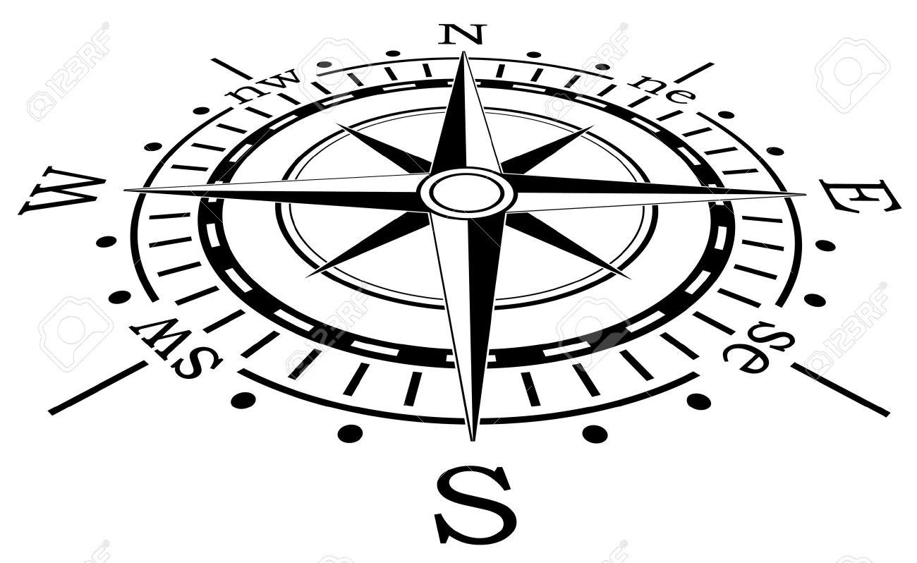 1300x798 Compass Rose Vector Art